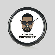 Kanye West Yeezy For USA President Music Dope Round Wall Clock Home Office New
