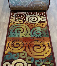 """Rug Depot Contemporary Hall and Stair Runner Remnants- 31"""" Wide - Multi-Colored"""