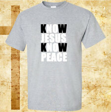 Christian T Shirt Know Jesus Know Peace T-Shirt God Religious Tee
