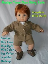 American Girl Doll Bitty Twin Boy Doll Design Your Own Custom OOAK Bitty Doll