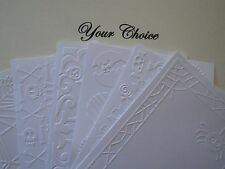 A2 Embossed Paper Cardstock Card Fronts Toppers Photo Mat Halloween Fall Autumn