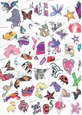 5 x Kids temporary tattoos - Party favours - Heaps of designs to choose from