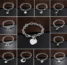 GIFT For Men/Women 925Solid Silver Jewelry Pendant&Chain Bracelet Bangle Jewelry