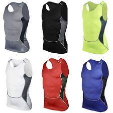 Men Compression Skin Tight Shirt Vest Base Layer Running Athletic Tank Top S-2XL