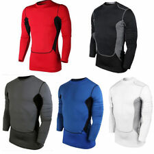 Mens Boys Sport Compression Armour Thermal Base Layer Under Shirt Top Gear Wear