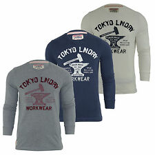 Mens Long Sleeved T Shirt by Tokyo Laundry Crew Neck 'Lake George' Top S-XL
