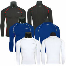 Mens Boys Compression Armour Base Layer Top Thermal Under Gear Sports Skin Shirt