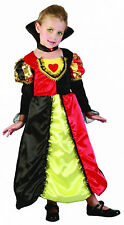 GIRLS QUEEN OF HEARTS TODDLER FANCY DRESS PARTY COSTUME OUTFIT 2-4 YRS