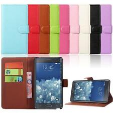 Leather Wallet Pouch Flip Durable Case Cover Shell For Samsung Galaxy Note Edge