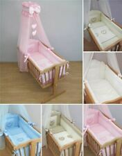 10 Piece Crib Baby Bedding Set 90x40 cm Fits Swinging Rocking Cradle - Heart