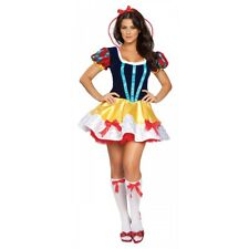 Snow White Costume Adult Fairytale Princess Sexy Halloween Fancy Dress