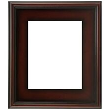 """NEW CLASSIC MODERN PHOTO PICTURE PAINT FRAME PLEIN AIR WOOD BROWN LEAF 3"""" WIDE"""