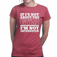 About The Gym Sports Fitness Training Running Exercise Ladies Girls T shirt Top