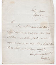 JOHN RUSSELL, 6TH DUKE OF BEDFORD 1838 AUTOGRAPH LETTER SIGNED TWICE