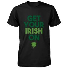 Get Your Irish On Clovers St Patricks Day Shirt Saint Patrick's Day Men's Tees