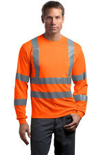 CornerStone® ANSI 107 Class 3 Long Sleeve Snag-Resistant Reflective T-Shirt Mens