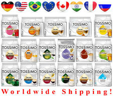 TASSIMO COFFEE CAPSULES VARIED QUANTITYS - 44 FLAVOURS + WORLDWIDE FREE SHIPPING