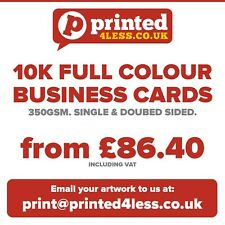 10000 BUSINESS CARDS PRINTED FULL COLOUR 350GSM SINGLE DOUBLE SIDED FLYERS 350