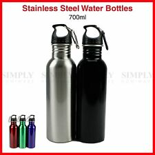 Stainless Steel Water Bottle 700ml Bottles Sport Gym Cycling Camping Work
