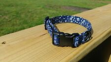 Blue Bandana Dog Collar cowboy Fabric country western puppy cowgirl cotton soft