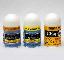 3pc set OraLabs extra moisture vanilla almond chap ice beeswax mini lip balm