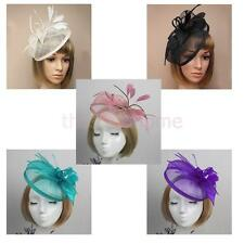 Feather Headband Fascinator Wedding Hairband Alice Band Hat Races Royal Ascot
