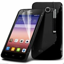 S-Line Slim TPU Wave Gel Rubber Phone Case Cover for Huawei
