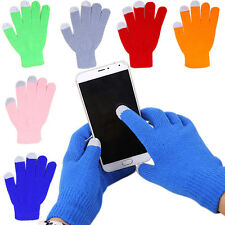 1Pair Newly Unisex Soft Winter Magic Touch Screen Smartphone Texting Knit Gloves