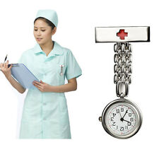 Gift Unisex Doctor Nurse Red Cross Brooch Pendant Hanging Pocket Quartz Watch