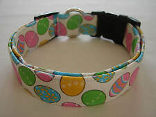 Charming Lots of Beautiful Colored Easter Eggs Dog Collar