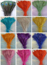 Wholesale!10-200pcs natural peacock tail feathers 10-12inches/25-30cm