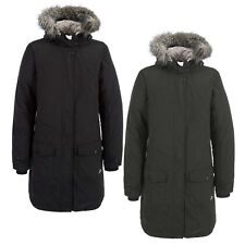 Trespass Glacial Womens Long length Down Jacket Warm Winter Hooded Coat