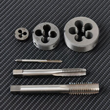 HSS BSW 1/8-40 to 1/2-12 TPI Taper Pipe Tap Round Die Set Thread Right Hand Tool