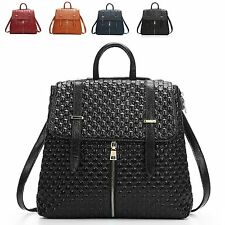 Zipper Belt Deco Leather Women Embossing Tote Shoulder Crossbody Backpack Bag