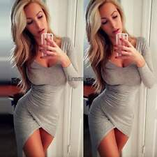 Women Bandage Bodycon Long Sleeve Evening Sexy Party Cocktail Mini Dress LM