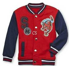 NWT-Boys Marvel Spiderman Red Blue Spider-Man Stadium Varsity Jacket-sz 2T & 3T