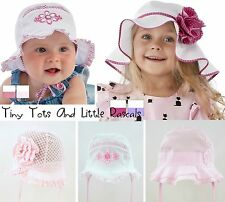Toddler Girls Summer Hat Bonnet Holiday Beach Cap Occasion Size 6 mths-6 years