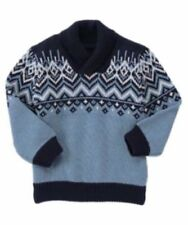 NWT Gymboree Boys Sky Patrol Navy Blue Fair Isle Sweater Sizes  3T 4T 5T