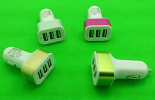 Universal 3 in 1 Triple USB Car Charger Socket Lighter Iphone Ipad Samsung 5W