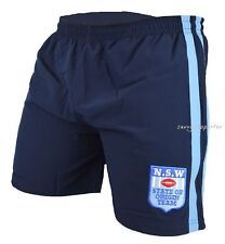 NSW Blues State of Origin 2016 Heritage Training Shorts 'Select Size' S-3XL NRL