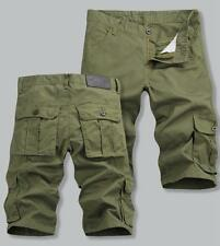 Mens Casual Military Overalls Army Cargo Trousers Camo Combat Work Short Pants