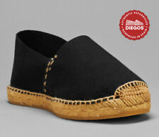 Black Espadrilles sewn in white - Hand Stitched in Spain - Men and Women sizes