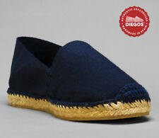 Authentic Navy Blue Flat Espadrilles Hand Made in Spain - Both for Men and Women