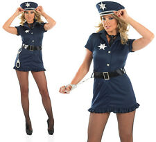 Ladies Sexy Us Cop Fancy Dress Costume Police Woman Uniform Hen Outfit UK 8-30