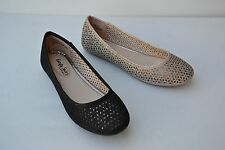 B-11A Women Comfort Slip On Breathable Round Toe Ballet Flat Shoes Size 5.5~10