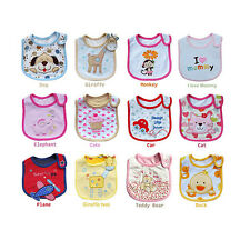 Cute BabyTowel Saliva Durable Waterproof Kids Cartoon 3 Layer Toddler Lunch Bibs