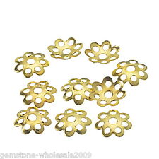 Wholesale Mixed Lots Gold Plated Beads Caps For Jewelry Findings 8mm
