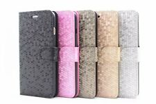 Diamond Flip Leather KickStand Slim Magnetic Case Cover For Apple iPhone 4/5/6 +