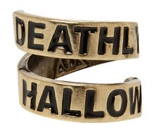 NEW Harry Potter Deathly Hallows Engraved Wrap Ring