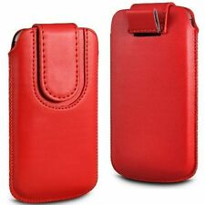 Soft Magnet PU Leather Pull Tab Flip Case Cover For Vodafone Smart First 6